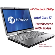 Used i7 Laptop Revolving 12 Inch HP EliteBook 2760p Revolving Notebook HP Laptop Core i7 Notebook i7 Laptop touch screen