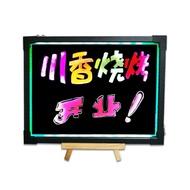 櫃檯LED電子螢光板30 40 手寫板 廣告板螢光屏發光黑板掛式小黑板WD  初语生活馆