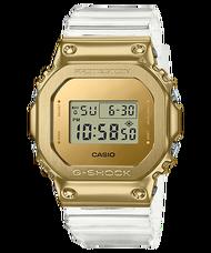 【CASIO卡西歐】G-SHOCK 金色鏡面招財水晶風數位錶 (GM-5600SG-9)