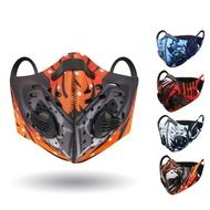 【活力揚邑】多彩風戶外運動機車防風防塵防霾氣閥立體口罩