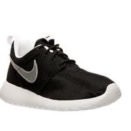 Nike 白底銀勾款