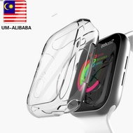 VAORLO Protective Cover Case for Apple watch Series 6 5 4 3 2 1 44mm 40mm 42mm 38mm TPU Transparent all-inclusive Case Shockproof Plastic Frame Cover