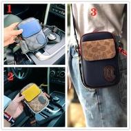 Coa**ch original new men and women clutch bag small messenger wallet mobile phone bag