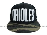 《降價7折》Shoestw【5562003-018】MLB 棒球帽 調整帽 潮流帽 金鶯隊 黑綠迷彩 大字款