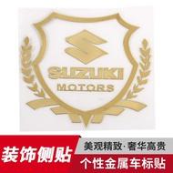 SUZUKI 鈴木專用 汽車金屬裝飾車標貼 GSX R150 GSR NEX ADDRESS 車標貼個性側窗車身裝飾貼紙