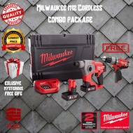 Milwaukee M12CH 12V Cordless SDS-PLUS Rotary Hammer + M12CPD 12V Cordless Impact Drill Combo Set