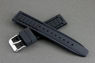 168錶帶配件 /20mm絕佳手感silicone strap 高質感特殊鋼帶紋替代原廠錶帶高質感矽膠錶帶 seiko