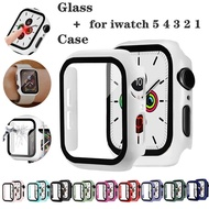 Full cover for Apple Watch series 5 4 3 2 matte Plastic bumper hard frame case with glass film for i Watch screen protector colorful fashion