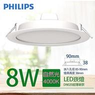 PHILIPS 飛利浦 DN020B 8W LED 崁燈 9cm