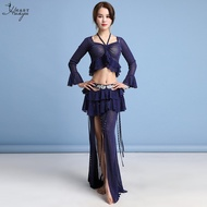 Dance Yarn Fairy Drawstring Exercise Clothing Oriental Belly Dance Hot Rhinestone Women's New Slimming Clothing Suit Sex