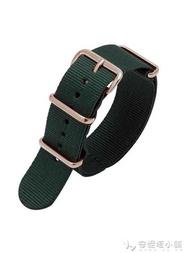 代用Briston手錶帶周冬雨同款布里斯頓男女尼龍錶帶經典綠色黑色