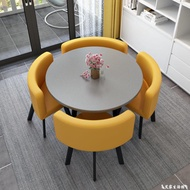 洽談桌 可收納餐桌家用小戶型公寓飯桌商店鋪面洽談桌椅組合會客接待圓桌