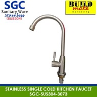 Sgc Stainless Steel Casting Single Cold Kitchen Faucet SUS304-3073