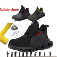 【READY STOCK】Safety boot Electrical insulating Steel toe cap Indestructible shoes Work Welding Safetyshoes bige size 48