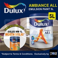 Dulux Ambiance All Emulsion Paint 5 Litre *All-in-1 Solution