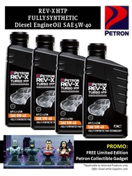 Petron Rev-X HTP Fully Synthetic Diesel Engine Oil SAE 5W-40 (4L with Free Petron Gadget)