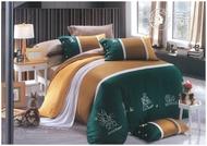 【全館免運】100%精流棉 雙人鋪棉兩用被套 床包五件組 /金色山脈/彼得兔/Peter RABBIT