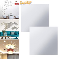 LUCKY🔆 Adhesive stickers Stickers DIY Wall Stickers Mirror Self-adhesive PET Mirror Sticker Ultra-thin Acrylic Soft Mirror