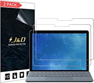 J&D Compatible for Microsoft Surface Go/Microsoft Surface Go 2 Glass Screen Protector (2-Pack), Not Full Coverage, Tempered Glass HD Clear Ballistic Glass Screen Protector for Surface Go Glass Film