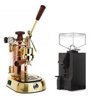 La Pavoni Professional PRG Espresso Coffee Machine & Eureka Mignon Manuale Combo