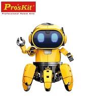 台灣製Pro skit寶工科學玩具AI智能寶比GE-893(紅外線感應+AI人工智慧=仿真機械寵物模組)Probbie寶比智能六腳機械動力機器人