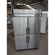 [龍宗清] 瑞興4門白鐵冰箱 (19073107-0012)營業用冰箱 冷凍冷藏冰箱 立式冷凍冰箱 氣冷式白鐵冰箱
