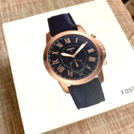 Fossil HYBRID SMARTWATCH - GRANT NAVY LEATHER