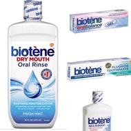 白樂汀 薄荷漱口水473ml 凝膠42g 含氟牙膏-清新薄荷 121.9g  Biotene 口腔用 酵素 高保濕