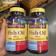 美國costco代購 萊萃美 Nature Made 高濃度 魚油 1200mg 200顆裝 fish oil 高單位