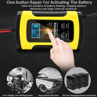 Car Battery Charger 12V 6A Fully Automatic 220V LCD Smart Fast Power For Car Charging For Lead-Acid Batteries For Motorcycle Repair Type Lead-Acid Battery Charger