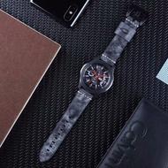 三星 Gear S3 Frontier 白霧蠟真皮錶帶 22mm錶帶 運動錶帶Ticwatch Pro 商務錶帶