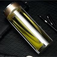 【透明雙層玻璃瓶】300~500ml 雙層玻璃杯 隔熱 玻璃茶杯 泡茶杯 雙層杯 隨手杯 保溫隔熱杯 透明杯 辦公室水杯