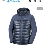 Columbia 哥倫比亞 男款-鈦 Omni-HEAT™3D鋁點保暖防水透氣羽絨外套 UWE08620