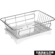 不銹鋼瀝水架碗碟筷洗碗池瀝水籃廚房盤子收納盒濾水碗籃晾放碗架