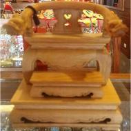 檜木製 3寸6脫5寸8 神尊用 雙龍椅 脫椅