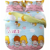 訂做款《喵頭~萌》∩KIKI&LALA 雙子星∩月亮花園 單人 雙人 床包 被套 枕套 寢具 床組 床品4件套 床包4件組