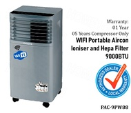 Harsons WIFI Enabled Portable Aircon With Ioniser and Hepa Filter 9000BTU PAC-9PW8 5 YEARS WARRANTY