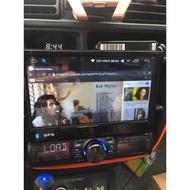 1DIN 安卓版螢幕主機 平板 上網 卡車 大貨車 聯結車 三噸半 canter fuso 12v 24v