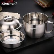 泡麵碗kunzhan304不銹鋼泡面碗帶蓋大號碗學生快餐杯便當飯盒方便面碗 清涼一夏钜惠