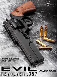 【重裝武力】King Arms Python 357 Evil (瓦斯) 左輪手槍 6吋戰術版