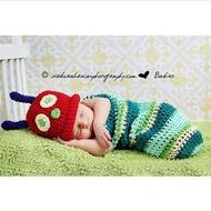=優生活=新生兒可愛服飾 毛毛蟲造型 寶寶攝影服裝服飾 寶寶滿月百天拍照服 寶寶滿月禮