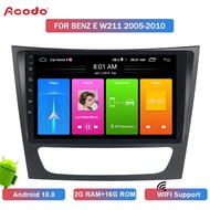 ACODO 2+16G Android 10.0 Car Radio Multimedia Player For BENZ E W211 2005-2010 Navigation GPS 2 din