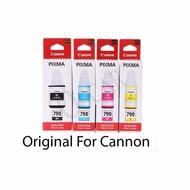 Canon GI-790 หมึกขวดแท้ 4 สี ต่อชุด  BK/C/M/Y FOR G1000G2000G3000.G1010G2010G3010 ของแท้