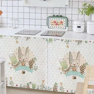 ❣✲Almari dapur sekat langsir kabinet kasut pakaian kain kalis habuk