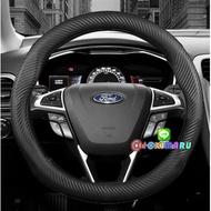 ส่งฟรี ! ศูนย์รวมของแต่งรถ ทุกชนิด หุ้มพวงมาลัยรถ (Car steering wheel Cover ) 1 ชิ้น FORD ปลอกหุ้มพวงมาลัย คาร์บอนไฟเบอร์ สำหรับรถยนต์ แท้ขนาด 38 ซม.สำหรับทุกรุ่น RANGER / EVEREST/ FIESTA / FOCUS / mustang สั่งเลย FAST SHOP