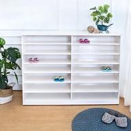 【BODEN】防潮防蛀 防水塑鋼5尺開放式鞋櫃(白色)