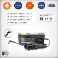 HP 19.5v 6.15a 120w (4.5*3.0mm) Replacement Laptop Charger for HP Pavilion 15-bc200 15-bc251nr