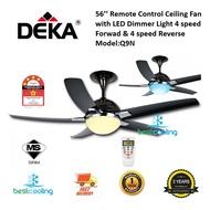 Deka Q9N 56'' Remote Control 5Blade Ceiling Fan With Dimmer LED Light (Motor 90W) (Display Unit Offer)