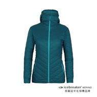 【Icebreaker】女 HypLite ML抗風防潑水連帽外套-ML180-翠暗藍(IB103931-402)