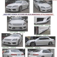 Honda Accord 2003 2004 2005 black window bodykit body kit BW front rear bumper side skirt lip diffuser